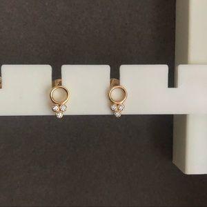 Gorjana 18k-gold plate/cubic zirconia Earrings